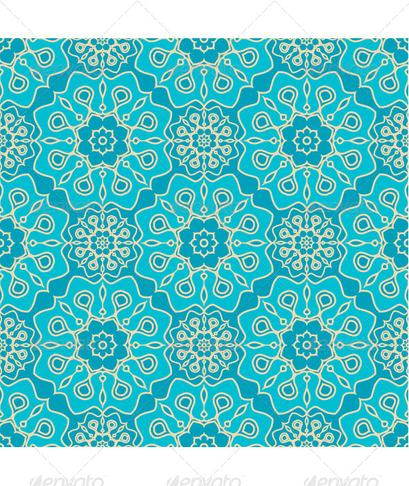 GraphicRiver Turquoise seamless pattern 7745798