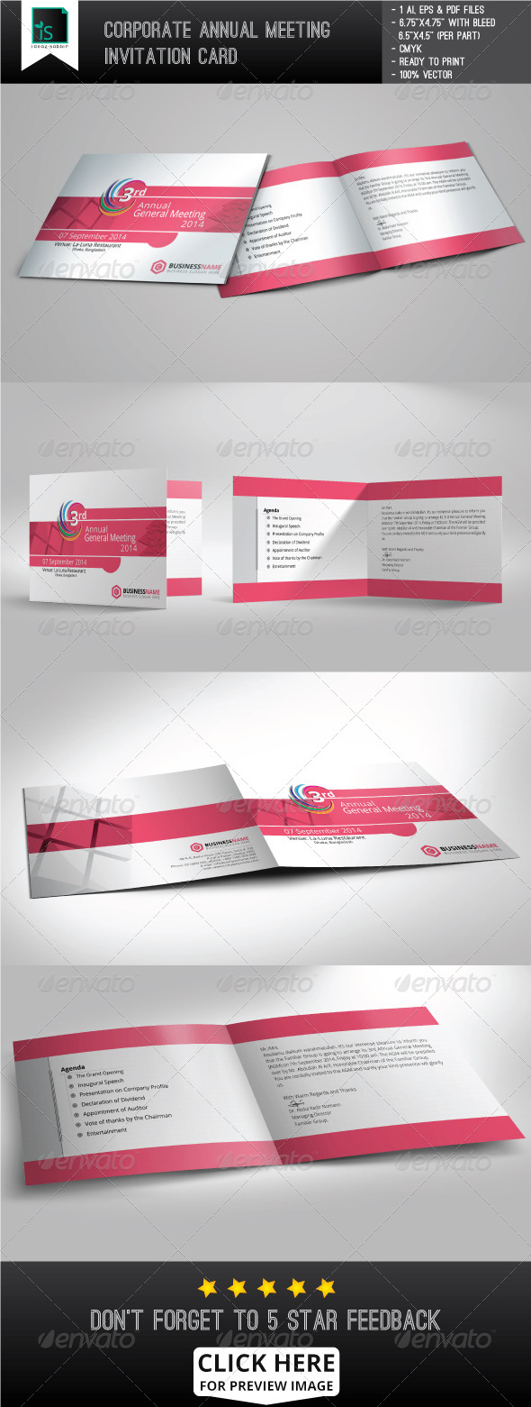 GraphicRiver Corporate Annual Meeting invitation Card 7764201
