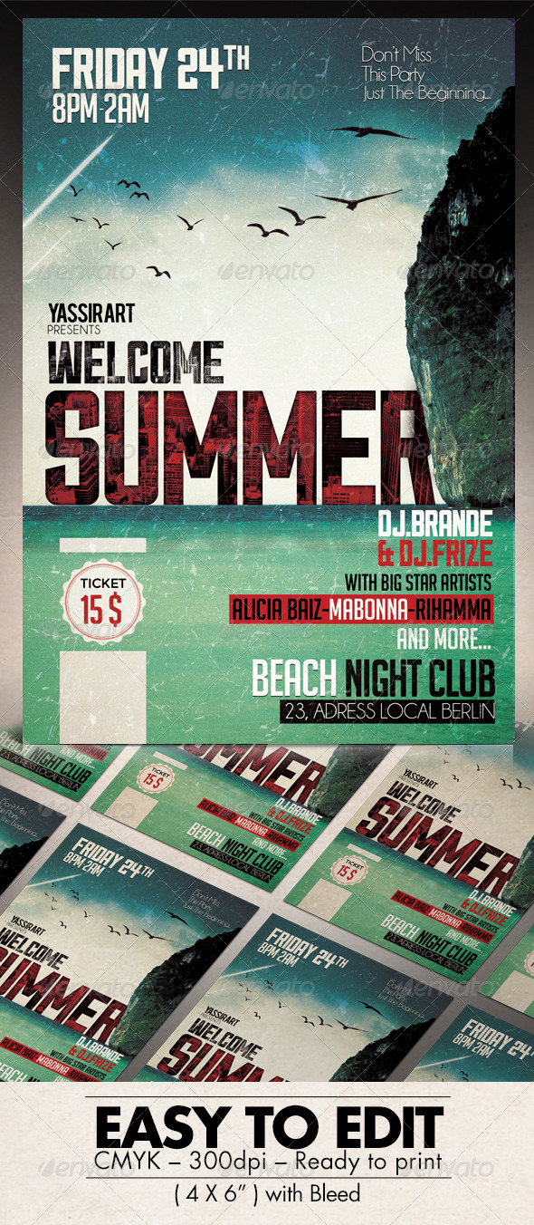 GraphicRiver Summer Flyer Template 7764212