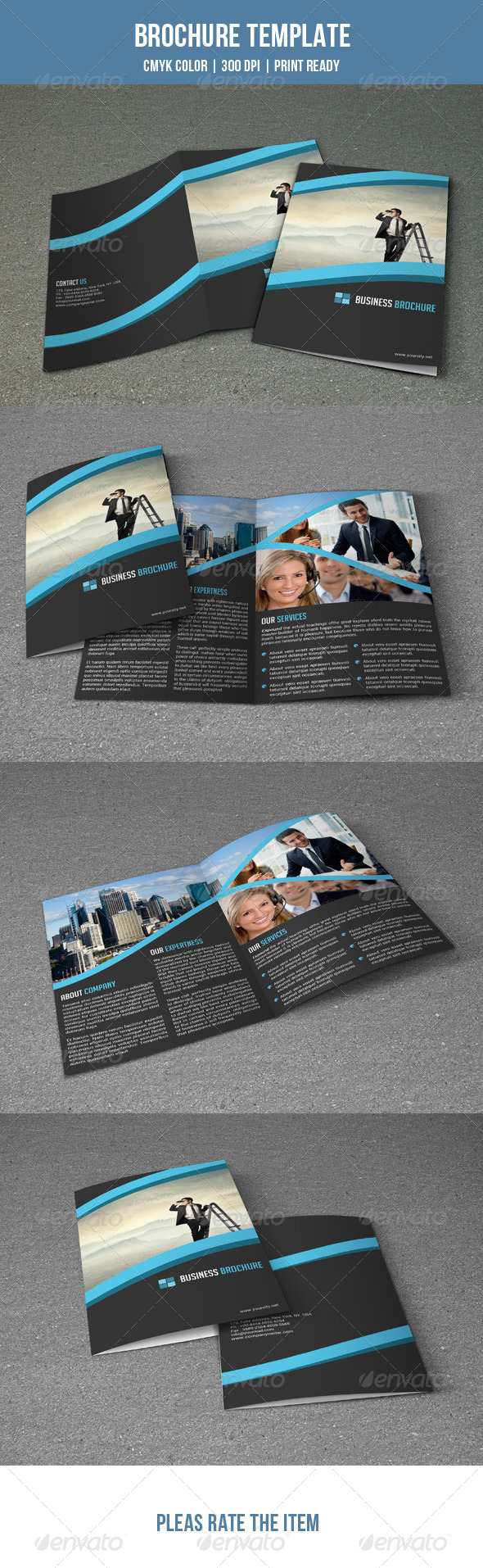 GraphicRiver Bifold Business Brochure-V04 7764275
