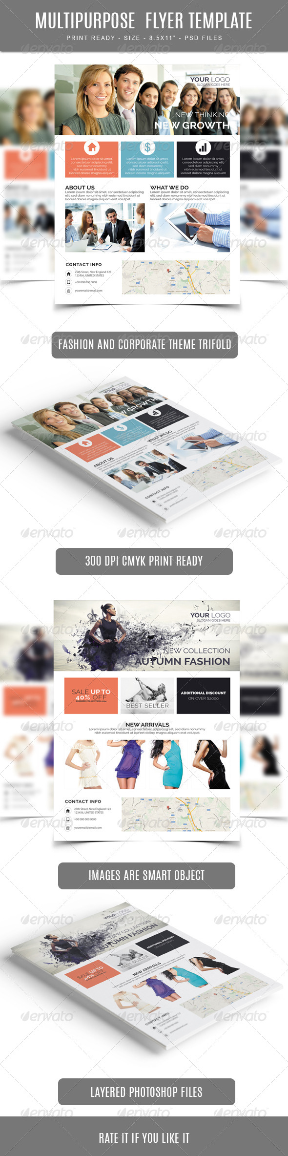 GraphicRiver Multipurpose Flyer Template 7764805