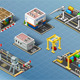 Isometric Set of Storage Buildings - GraphicRiver Item for Sale