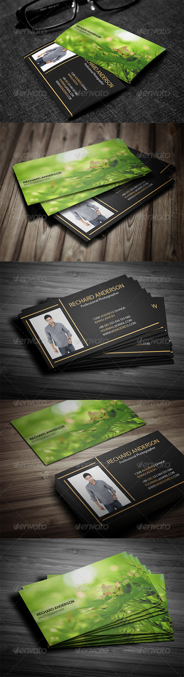 GraphicRiver Photographer Business Card 7727236