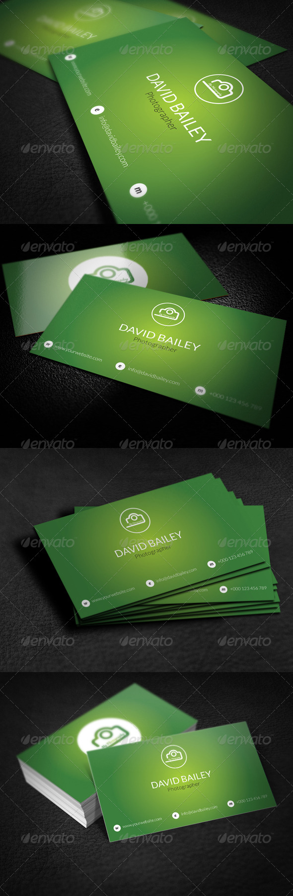 GraphicRiver Photographer Business Card 7764946