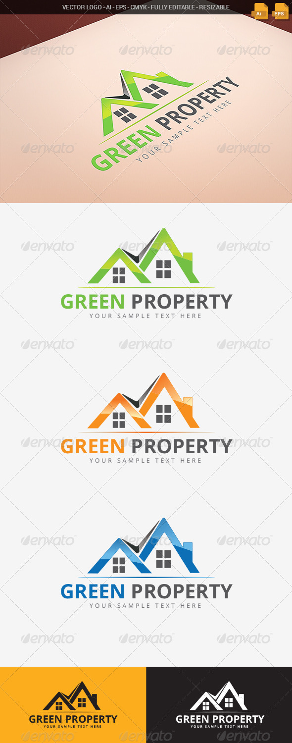 GraphicRiver Green Property Logo 7765724