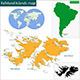 Falkland Islands Map - GraphicRiver Item for Sale