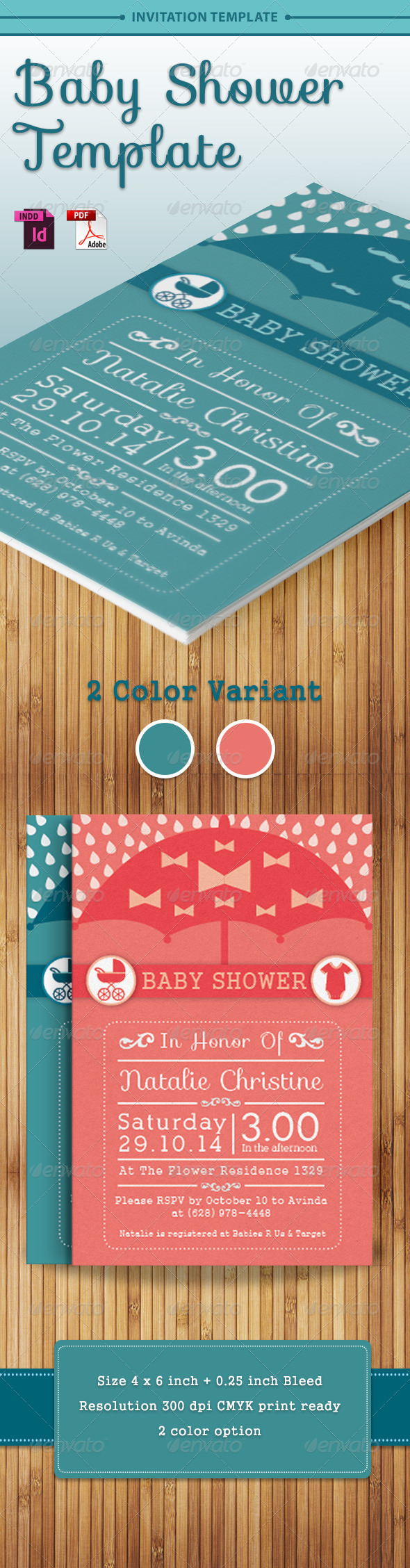 GraphicRiver Baby Shower Template Vol 4 7765947