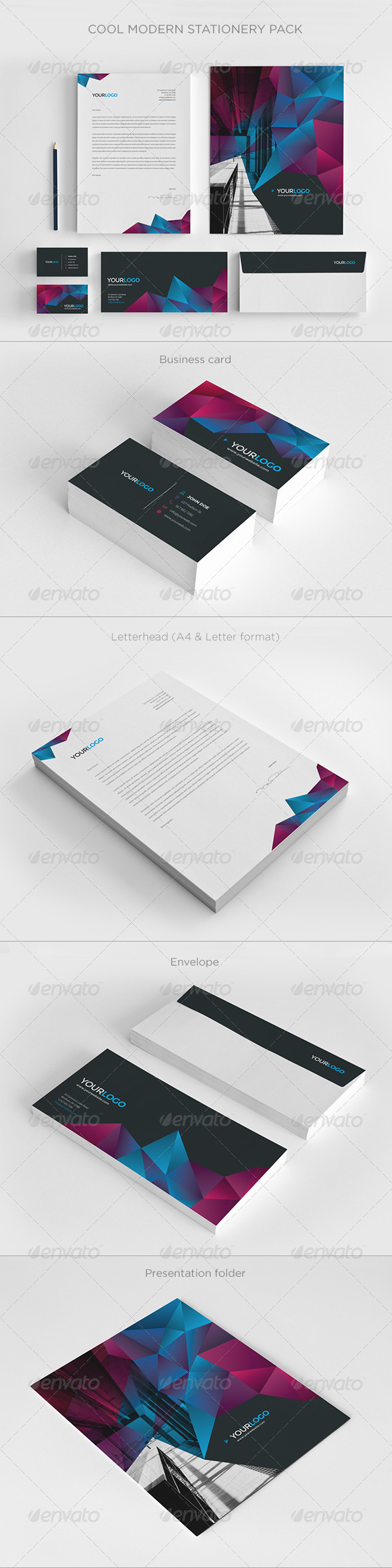 GraphicRiver Cool Modern Stationery Pack 7765998
