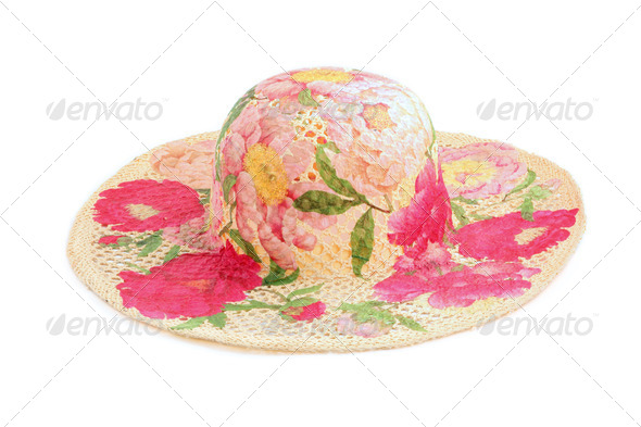 Fashion hat isolated on white background - Stock Photo - Images