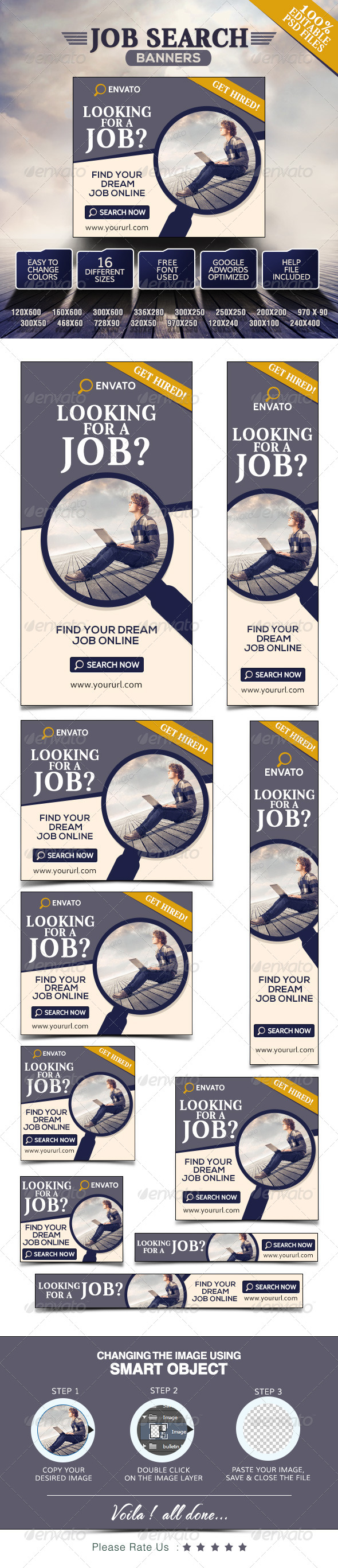 GraphicRiver Search Jobs Banners 7767703