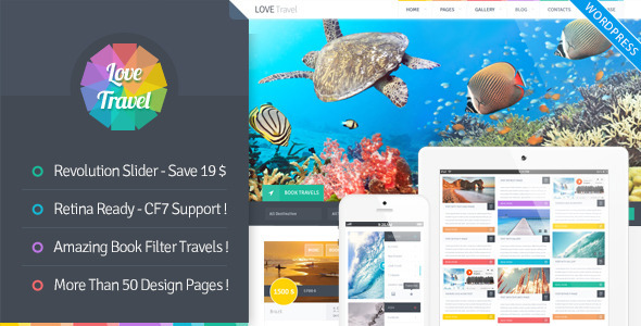 ThemeForest Love Travel Creative Travel Agency WordPress 7704831