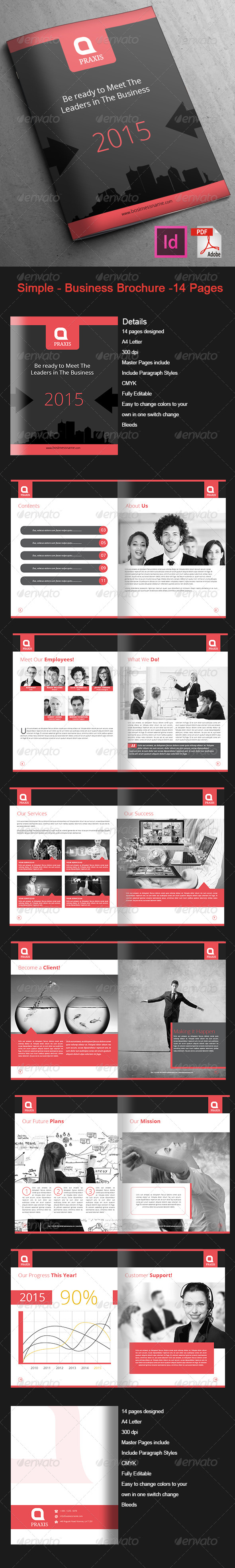 GraphicRiver Simple Business Brochure 14-Pages 7769492