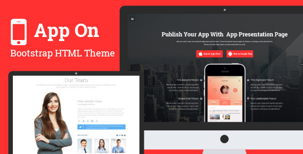 ThemeForest App on Responsive App Landing Page 7770343