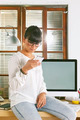 Young entrepreneur woman working on home office. - PhotoDune Item for Sale