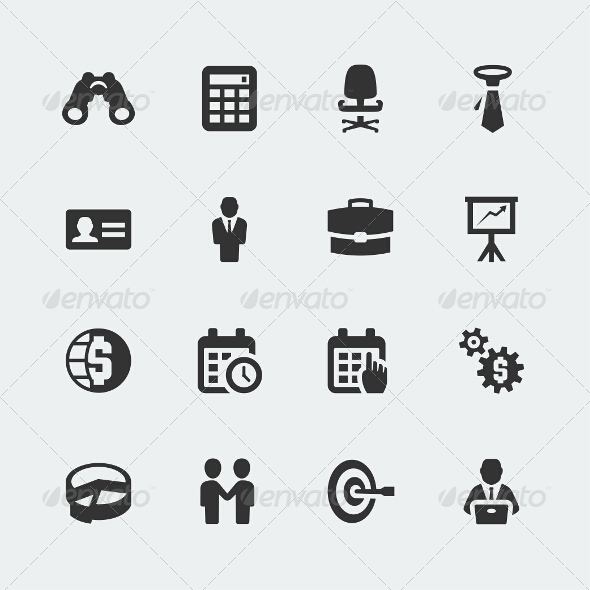 GraphicRiver Business Icons Set 7770656
