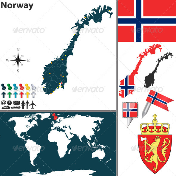 GraphicRiver Map of Norway 7771002