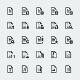 Document Icons Set - GraphicRiver Item for Sale
