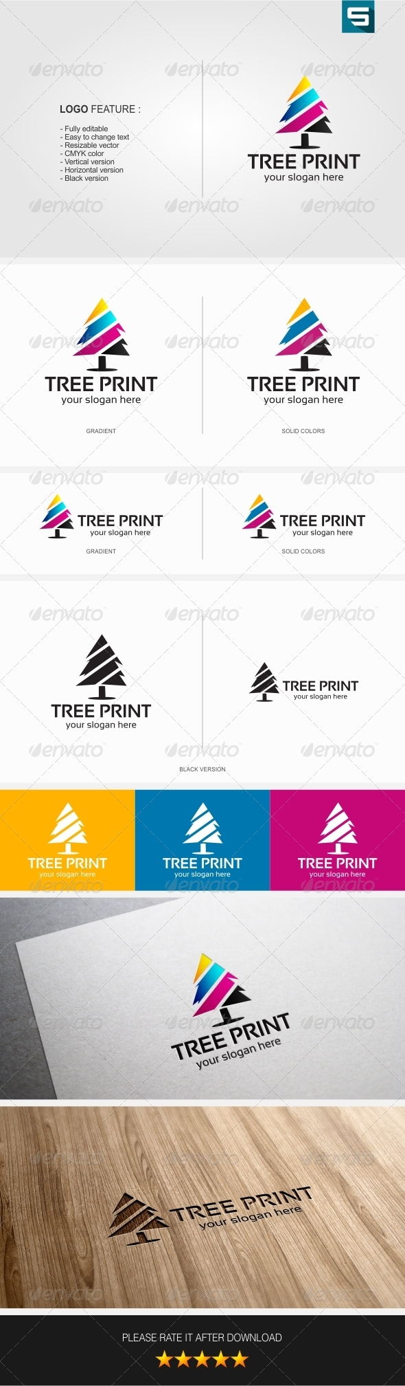 GraphicRiver Tree Print Logo 7752743