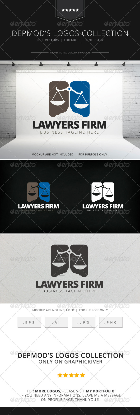 GraphicRiver Lawyer Firm Logo 7771247