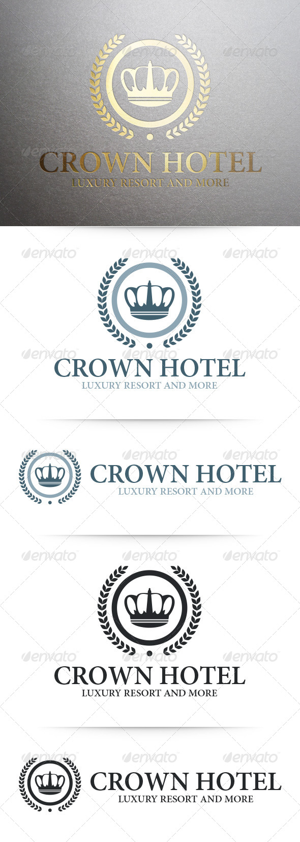 GraphicRiver Crown Hotel Logo Template 7771512