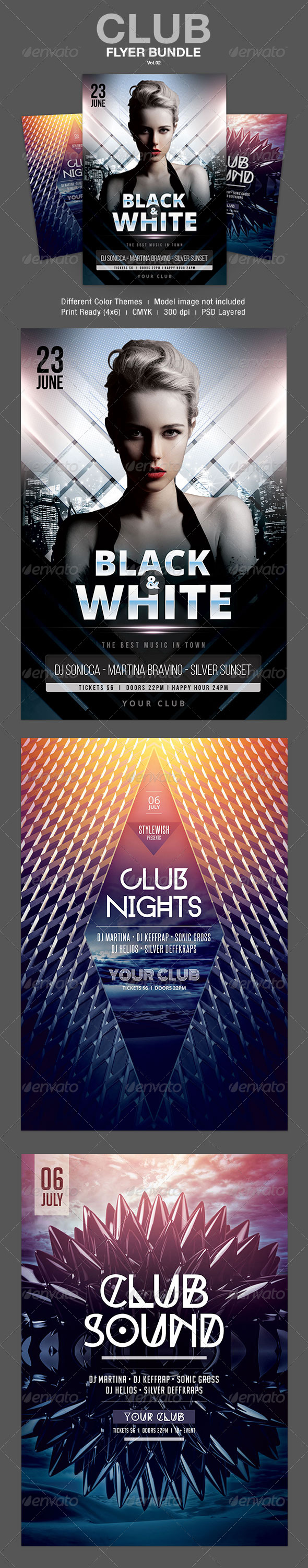 GraphicRiver Club Flyer Bundle Vol.02 7771513