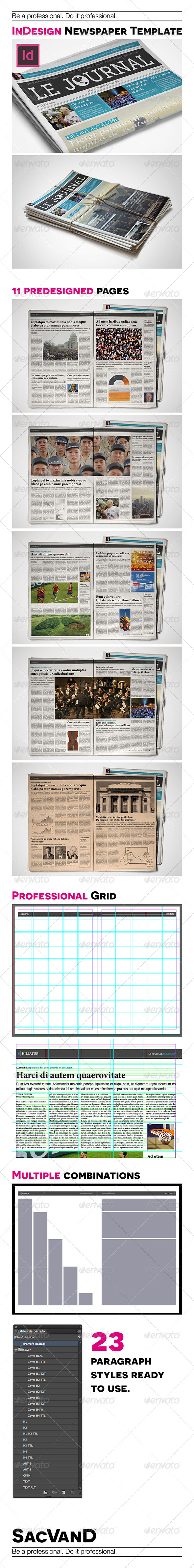 GraphicRiver InDesign Newspaper Template 5 Columns 7771556