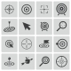 Vector Black  Target  Icons Set - GraphicRiver Item for Sale