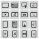 Vector Black Tablet Icons Set - GraphicRiver Item for Sale