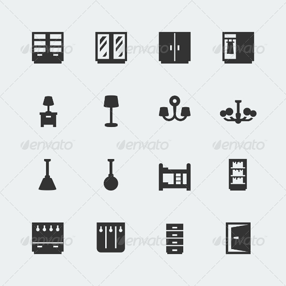 GraphicRiver Home Furniture Icons Set #2 7772412