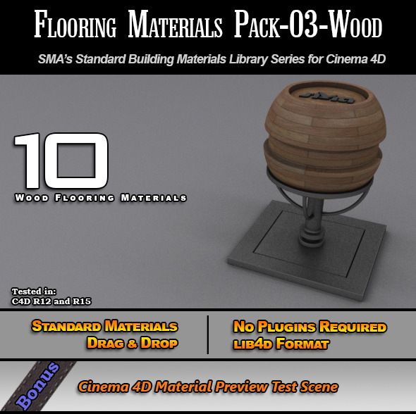3DOcean Flooring Materials Pack-03-Wood 7772602