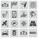 Vector Black Navigation Icons Set - GraphicRiver Item for Sale