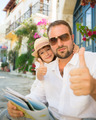 Father and child showing thumbs up - PhotoDune Item for Sale
