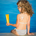 Sunscreen lotion drawing sun - PhotoDune Item for Sale