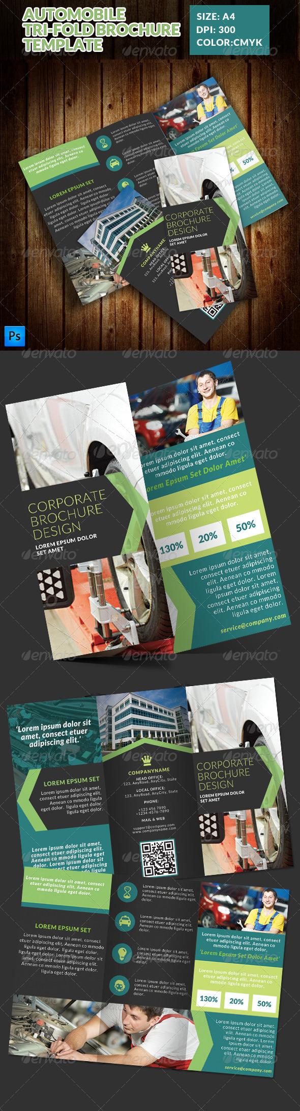 GraphicRiver Automobile Service Tri-Fold Brochure Template 7773573