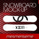 Snowboard 5 Scenes Mock-up - GraphicRiver Item for Sale