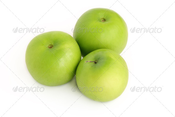 Group Jujube fruit isolated on white background - Stock Photo - Images