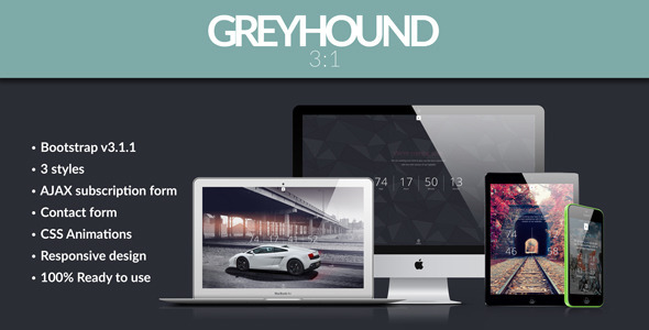 ThemeForest Greyhound 3 in 1 Parallax Coming Soon Template 7774716