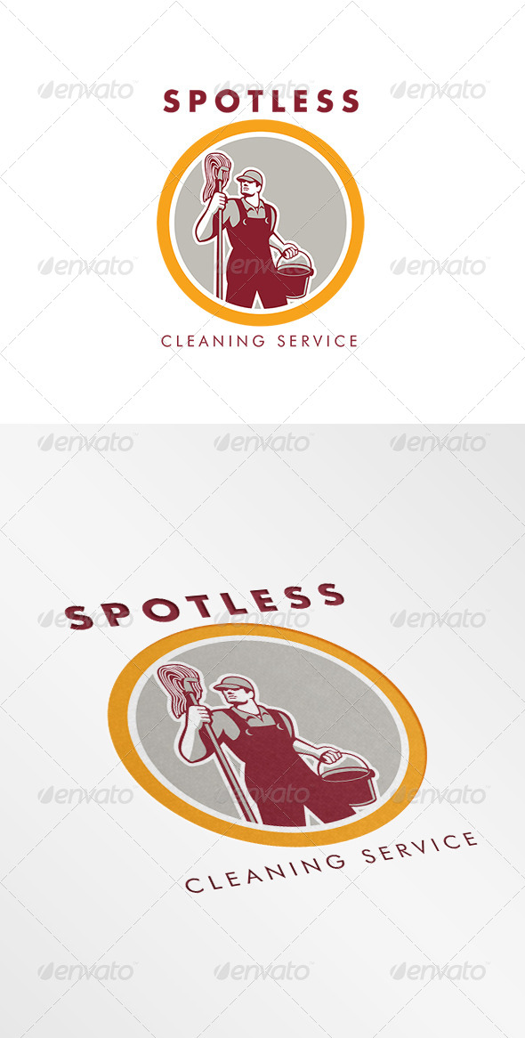 GraphicRiver Spotless Cleaning Service Logo 7775616