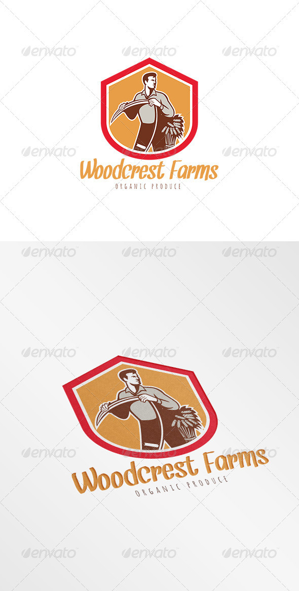 GraphicRiver Woodcrest Farms Organic Products Logo 7775621