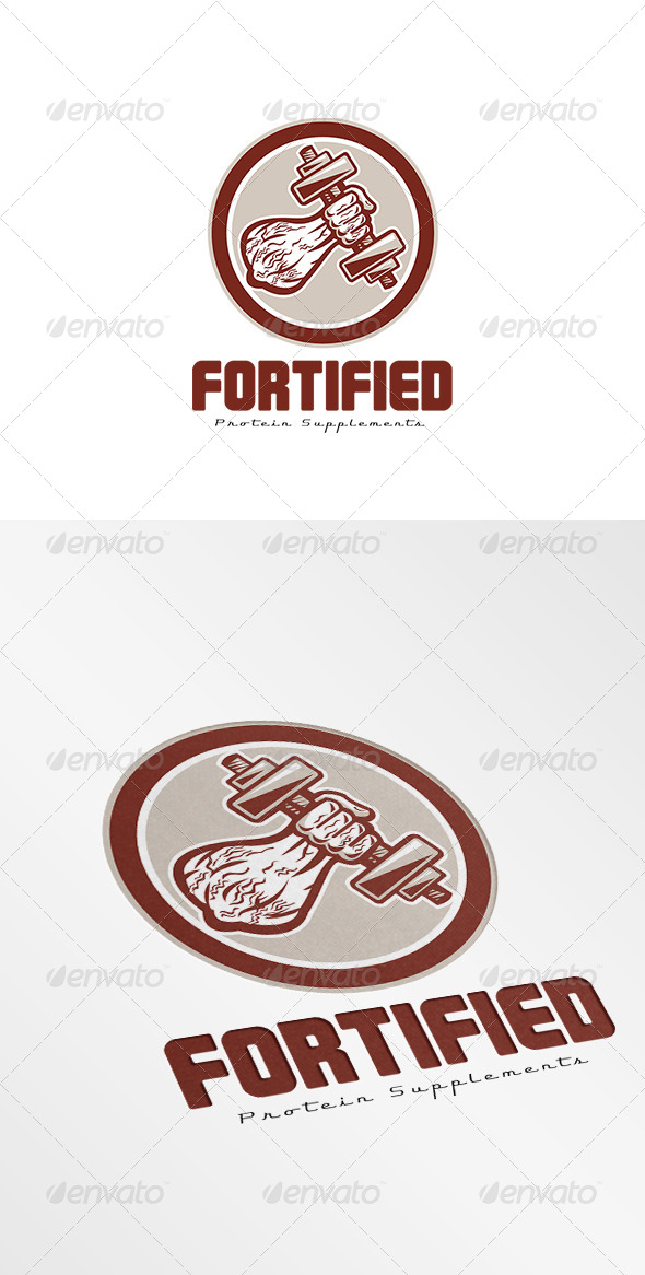 GraphicRiver Forted Protein Supplements Logo 7775631