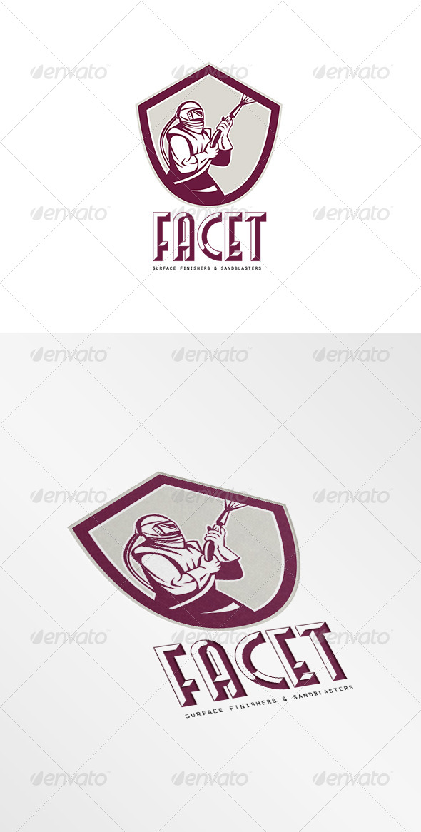 GraphicRiver Facet Surface Finishers and Sandblasters Logo 7775775