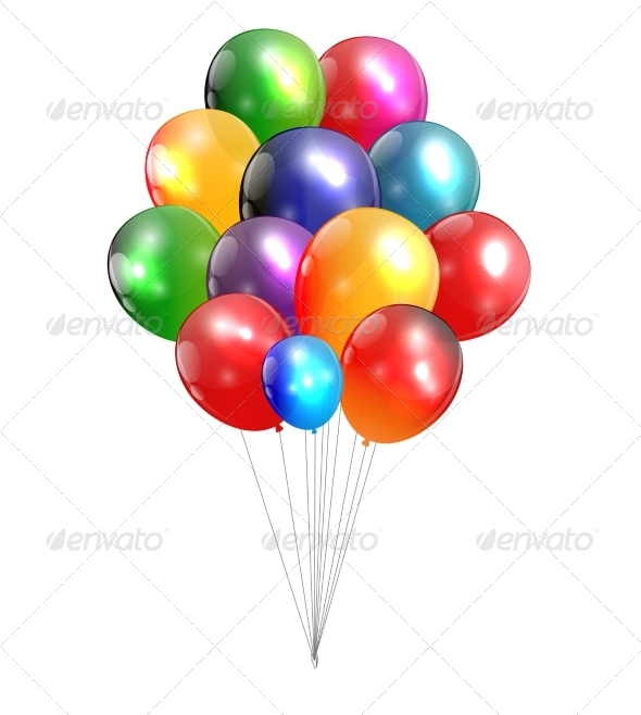 GraphicRiver Color Glossy Balloons Background 7775984