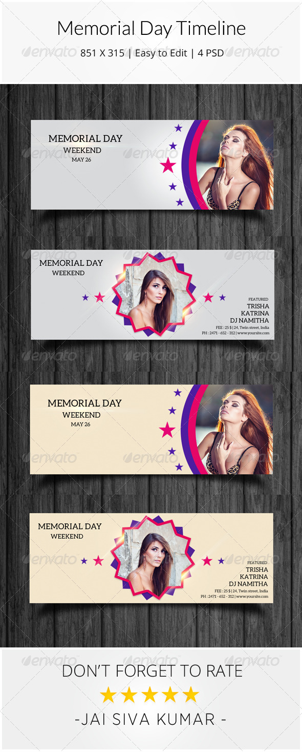 GraphicRiver Memorial Day Facebook Timeline 7776505