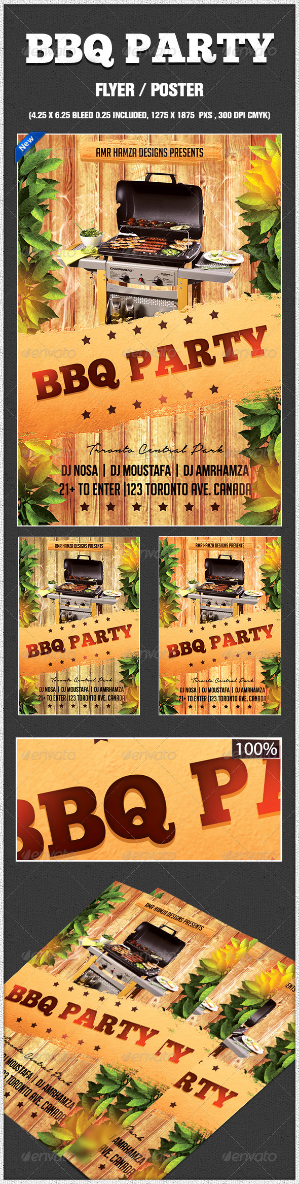 GraphicRiver BBQ Summer Party Flyer 7776567
