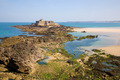 Saint Malo, Fort National and beach - PhotoDune Item for Sale