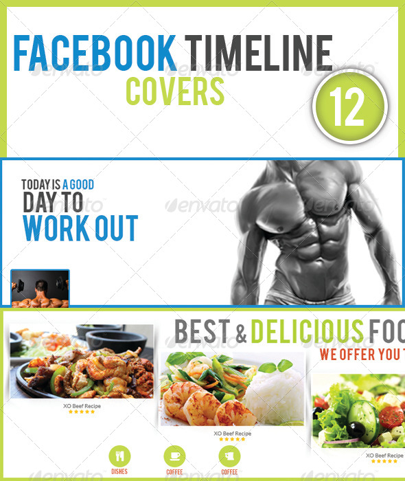 GraphicRiver 12 Facebook Timeline Covers 7777501
