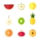 Flat Fruits Icons - GraphicRiver Item for Sale