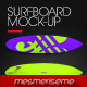Surfboard 5 Scenes Mock-up - GraphicRiver Item for Sale