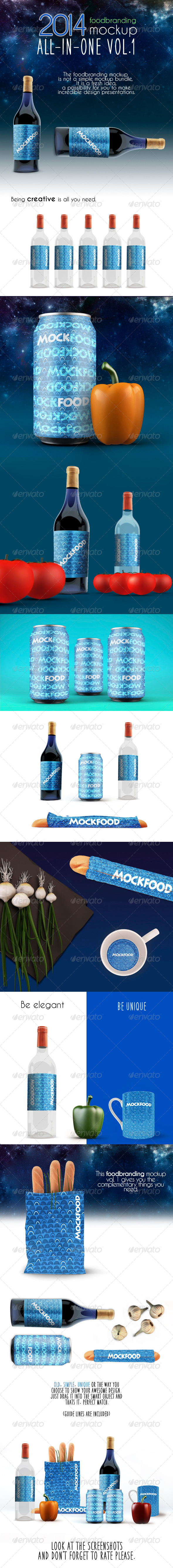 GraphicRiver Food Branding MockUp Vol 1 7724200
