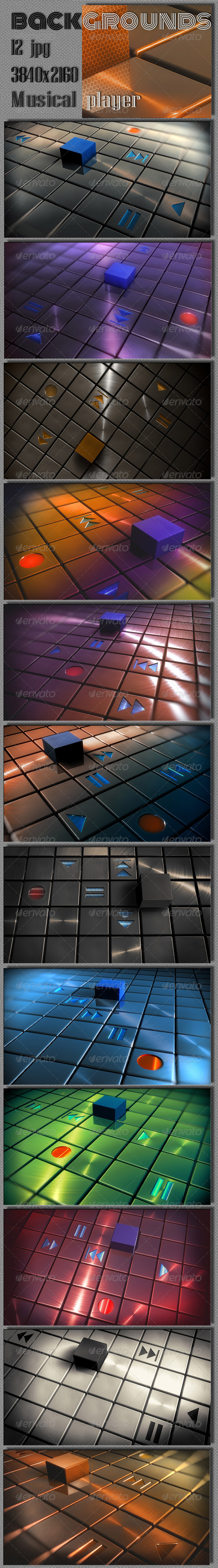 GraphicRiver Abstract Techno Musical Player 7779831